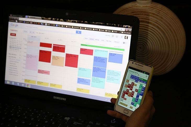 organizacja czasu zkalendarzem google