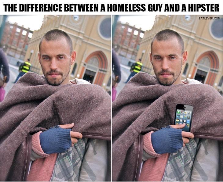 bezdomny czy hipster