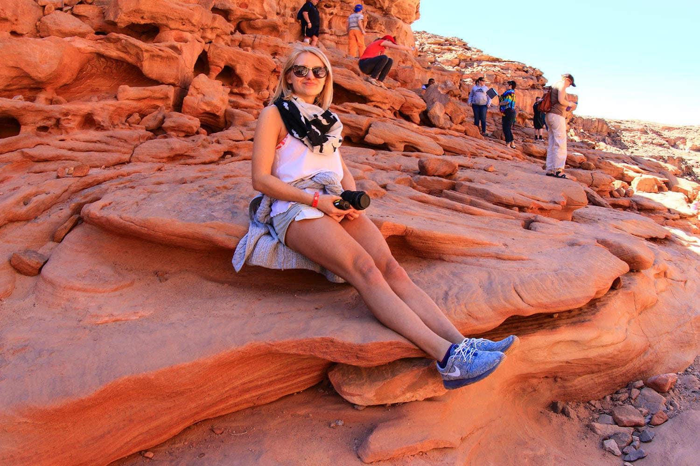 kolorowy kanion egipt