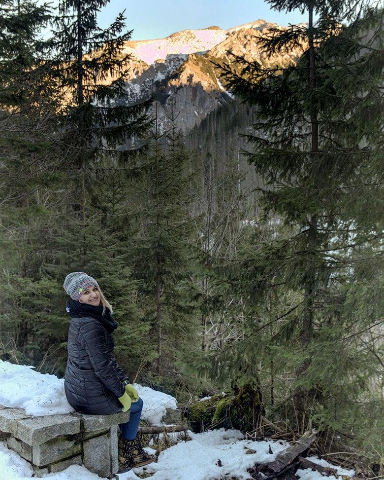 trasa nadmorskie oko zimą