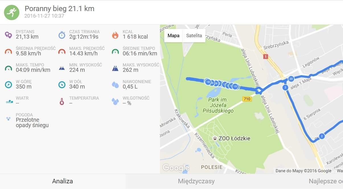 półmaraton wmniej niż 2 h 15