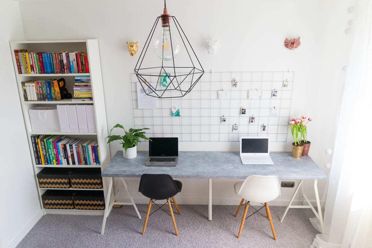 domowe biuro dla dwojga drlifestyle