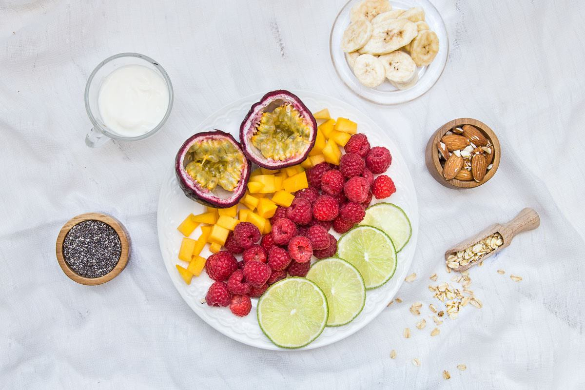 smoothie bowl składniki