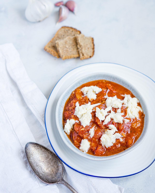 zupa pomidorowa z mozarellą