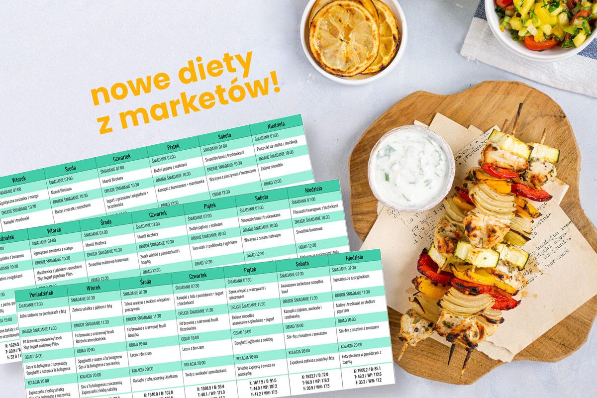 diety z marketów z rozpiską